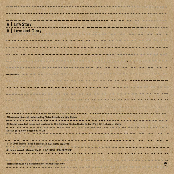 Life Story Love and Glory (with Nils Frahm) artwork